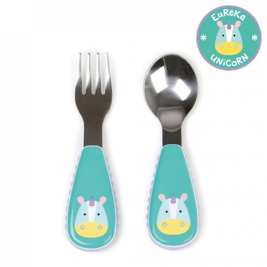 Skip Hop Zootensils Fork And Spoon - Unicorn