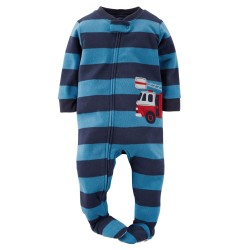 Carter's 1-Piece Fleece PJs, 8 Years