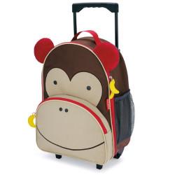 Skip Hop Zoo Little Kid Travel Rolling Luggage Backpack - Monkey