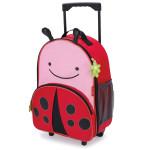 Skip Hop Zoo Little Kid Travel Rolling Luggage Backpack - Ladybug