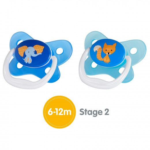 Dr. Brown's PreVent Contoured Stage 2 Blue, (6-12 Months)