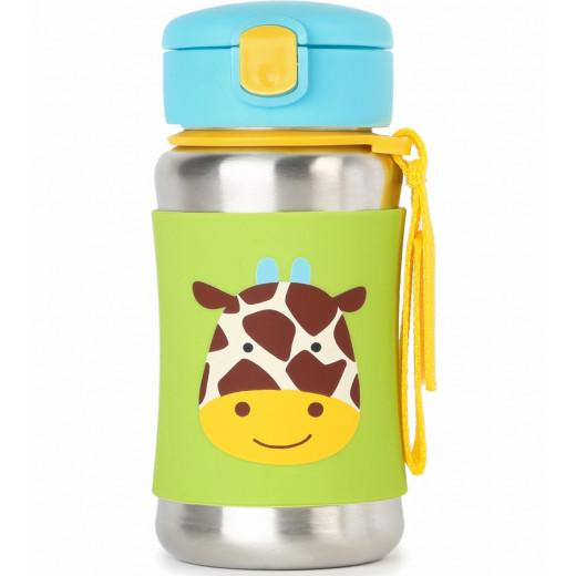 Skip Hop Zoo Stainless Steel Straw Bottle - Giraffe