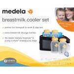 Medela Breastmilk Cooler Set with 4 Breast Milk Bottles