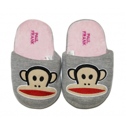 Winter Slippers - Pink Monkey - Medium Size