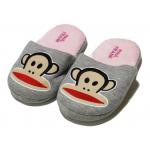 Winter Slippers - Pink Monkey - Medium Size