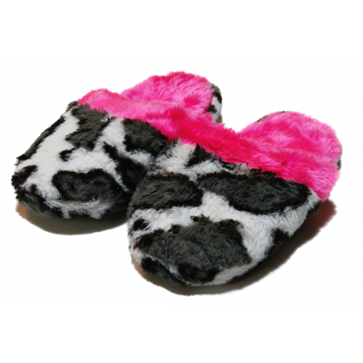 Winter Slippers - Pink & Black - Small Size