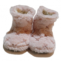 Winter Slippers - Fluffly Stars - Small Size