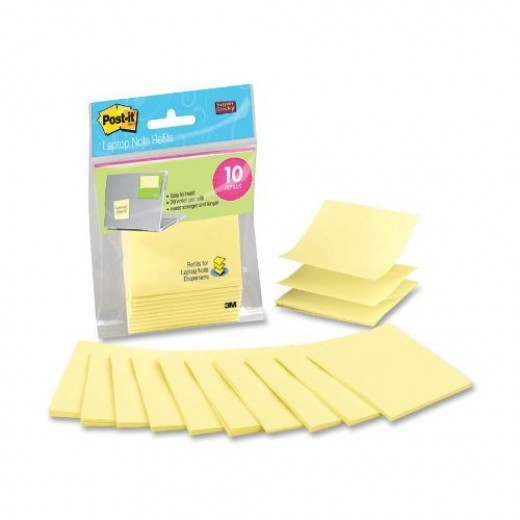 Post-it Super Sticky Pop-up Notes, With Laptop Dispenser Refills, 3 x 3-Inches