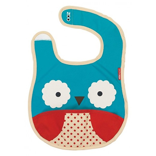 Skip Hop Zoo Infant and Toddler Tuck-Away Bib - Owl