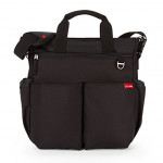 Skip Hop Duo Signature Diaper Bag with Portable Changing Mat, Black