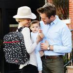 Skip Hop Duo Signature Diaper Backpack, Black/White