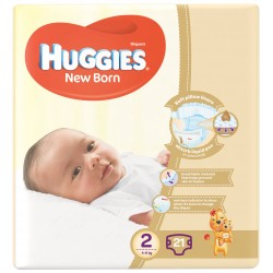 Huggies New Born Size (2) 4-6KG 21 Diapers