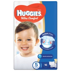 Huggies Convenience Size (5) 12-22KG 16 Diapers