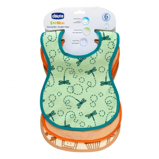 Chicco Weaning Cotton Bibs 3 Pieces