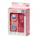 Dr. Brown's Gift Set (Wide Neck Bottle /Pacifier /Clip) - Pink
