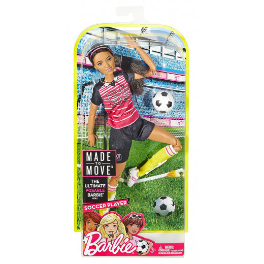Barbie Made to Move Soccer Player Doll