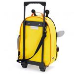 Skip Hop Zoo Little Kid Travel Rolling Luggage Backpack - Bee