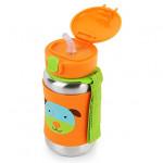 Skip Hop Zoo Stainless Steel Straw Bottle - Dog