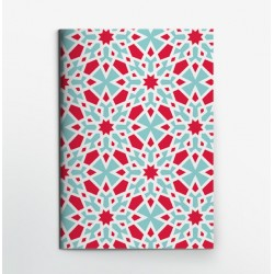 Colors & Shapes Marble Red Star Notebook