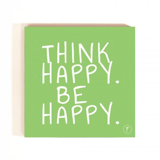 Think Happy , Be Happy Coasters