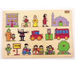 Edu Fun Double Sided PlayBoard Egyptian City