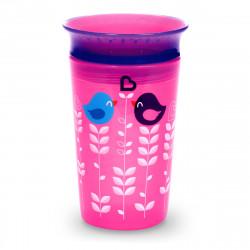 كوب للشرب ذو 360 درجة  - 266 مل (اللون الزهري) من مانشكين