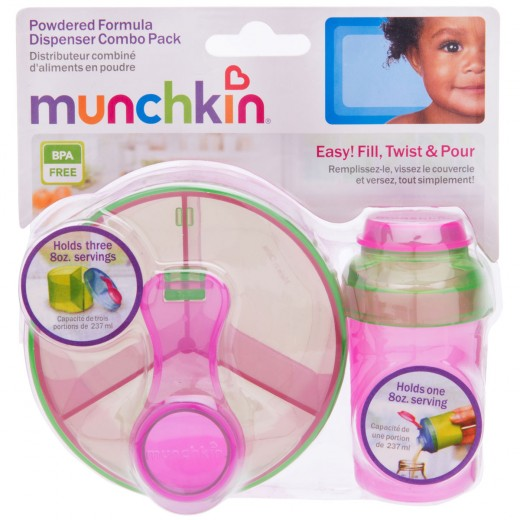 Munchkin Formula Dispenser Combo Pack (Pink/Green)