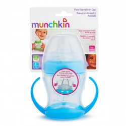 Munchkin Flexi-Transition Trainer Cup - 4oz (Blue)