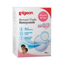 Pigeon Honeycomb Breast Pads 50+10 Free Pieces