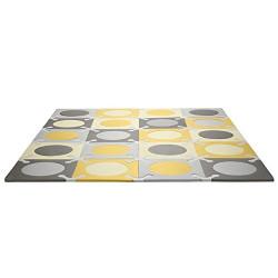 Skip Hop Interlocking Foam Floor Tiles Playspot, Gold/Grey
