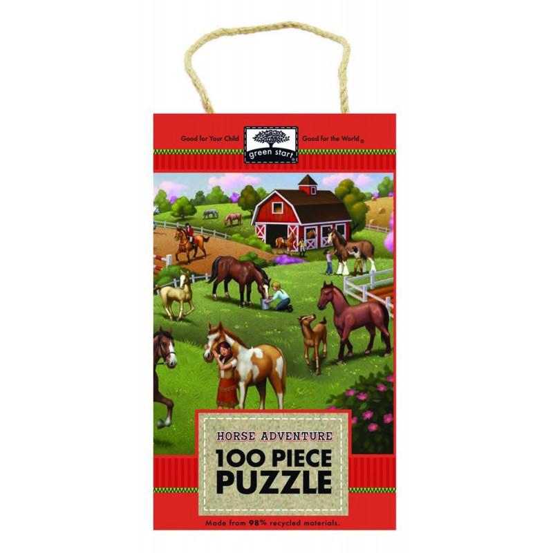 Innovative Kids Green Start 100-Piece Puzzle: Horse ...