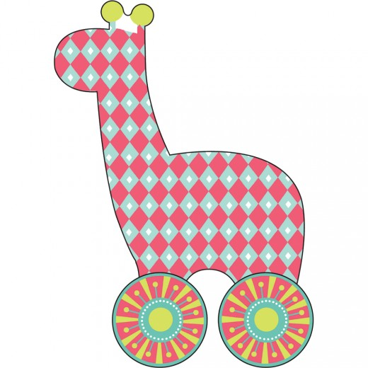 Imagine That Toys Now I'm Growing! Little Rollers: Little Giraffe-Refill