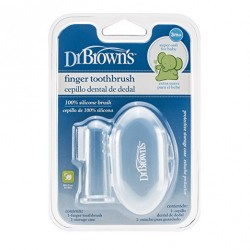 فرشاة أسنان إصبع دكتور براون مع حقيبة
