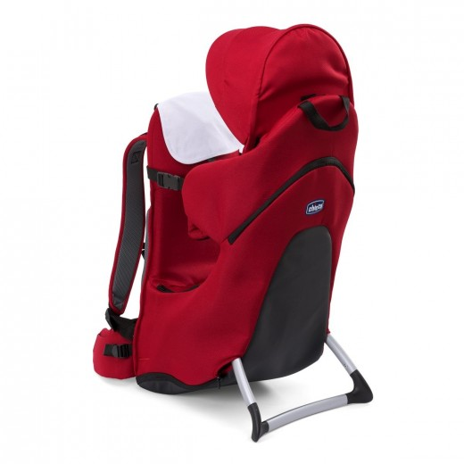 Chicco Light and Comfortable Backpack Finder Stone - Black/ Red - Red
