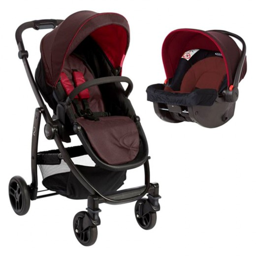 Graco Evo Avant Travel System - Fiery Red
