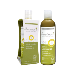 Amina's Organic Baby Bath Massage Oil 250ml