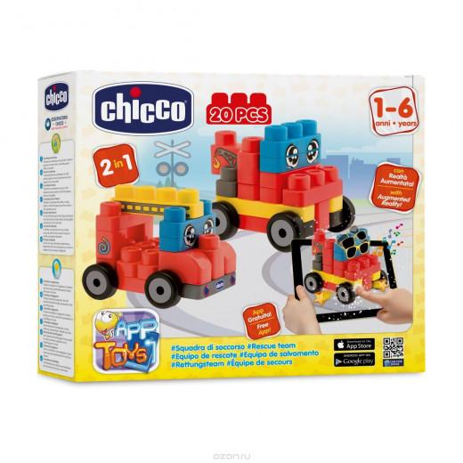 Chicco Toy Building Blocks Vehicles Set 20pc
