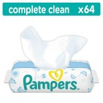 Pampers Complete Clean Baby Wipes - Baby Fresh Scent, 64 Wipes