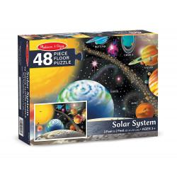 بازل أرضية النظام الشمسي ميليسا آند دوج 48 قطعة ، 2 × 3 قدم