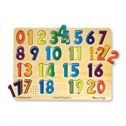 Melissa & Doug Numbers Sound Puzzle - 21 Pieces