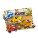 Melissa & Doug Construction Chunky Puzzle - 6 Pieces