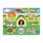 Melissa & Doug Pets Peg Puzzle - 8 Pieces