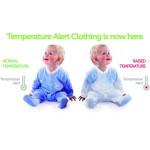 لباس تنبيه حراره الجسم من بيبي سيف مقاس 0-3 اشهر, زهري
