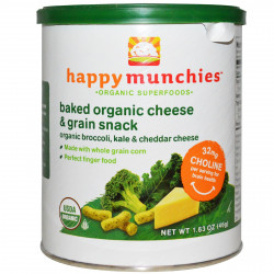 Happy Munchies Cheddar Cheese, Kale and Broccoli