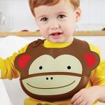 SkipHop Zoo Fold and Go Silicone Bib - Monkey