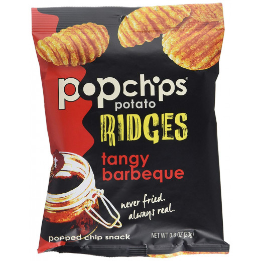 Pop Chips Gluten Free Chips Ridges Tangy Barbeque 23g