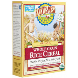 Earth's Best Organic Whole Grain Rice Cereal 227g
