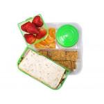 Sistema Bento Cube Box to Go with Fruit, Yogurt Pot, 1.25 L - Green