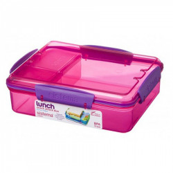 Sistema Lunch Snack Attack Duo, 975 ml, Assorted Colours - Pink