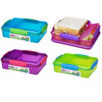 Sistema Lunch Snack Attack Duo, 975 ml, Assorted Colours - أخضر